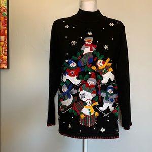 Vintage Snowman Sweater